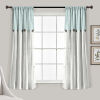 This item: Linen Button Blue and Gray 40 x 63 In. Single Window Curtain Panel