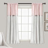 This item: Linen Button Blush and White 40 x 63 In. Single Window Curtain Panel