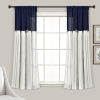 This item: Linen Button Blue and White 40 x 63 In. Single Window Curtain Panel