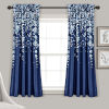 This item: Weeping Flower Navy 52 x 63 In. Room Darkening Window Curtain Panel, Set of 2