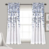This item: Weeping Flower Navy and White 52 x 63 In. Room Darkening Window Curtain Panel, Set of 2