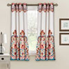 This item: Clara Room Darkening 63 x 52-Inch Turquoise and Tangerine Window Curtain