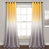 This item: Umbre Fiesta Yellow and Gray 84 x 52 In. Room Darkening Curtain Panel Set