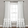 This item: Allison Ruffle White 84 x 40 In. Curtain Panel Set