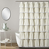 This item: Lace Ruffle Ivory 72 In. Shower Curtain