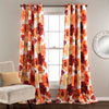 This item: Leah Red and Orange 84 x 52-Inch Curtain Panel Pair
