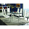 This item: Chrome Glass Dining Table with Leaves