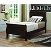 This item: Cappuccino Twin Panel Sleigh Bed