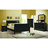 This item: Black Queen Sleigh Panel Bed