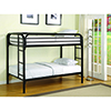 This item: Black Twin Bunk Bed with Built-In Ladder