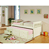 This item: White Twin Captains Bed with Trundle and Storage Drawer