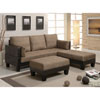 This item: Tan Sofa Bed with Two Ottomans