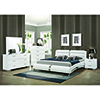 This item: Metallic Accents White Queen Upholstered Bed