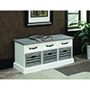 This item: White and Grey Six-Drawer Storage Bench