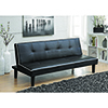 This item: Black Sofa Bed with Contrast Piping