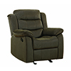 This item: Chocolate Upholstered Glider Recliner
