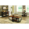 This item: Brown Sofa Table with Two-Shelf Rustic