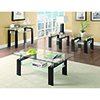 This item: Black and Transparent Tempered Glass Coffee Table with Shelf