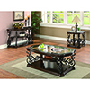 This item: Dark Brown End Table with Tempered Glass Top Deep
