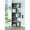This item: Weathered Grey Five-Shelf Semi-Backless Bookcase