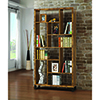 This item: Antique Nutmeg Open Bookcase with Different Sized Cubbies