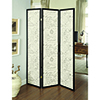 This item: French Script and Black Three-Panel Screen