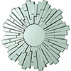 This item: Accents Flower Sun Decorative Frameless Wall Mirror
