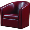 This item: Red Accent Swivel Chair