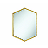 This item: Gold Accents Hexagon Shaped Mirror