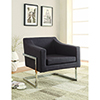 This item: Chrome and Grey Accent Chair with Exposed Frame