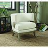 This item: White and Weathered Grey Accent Chair with Barrel Back