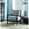 This item: Grey and Cappuccino Accent Chair with Beaded Frame
