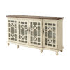 This item: Ivory 72-Inch Four-Door Tv Stand Cabinet