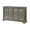 This item: Distressed Blue And Cream 40-Inch Four-Door Tv Stand Cabinet