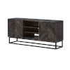 This item: Brown Two-Door Tv Stand Cabinet