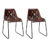 This item: Dark Brown and Antique Gunmetal 20-Inch Dining Chair