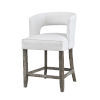 This item: Philly Brown White Fabric Bar Stool
