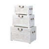 This item: Wonders of the Sea Tropics White Wash Nesting Trunk, Set of Three