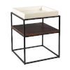 This item: Peabody Walnut Brown White Accent Table