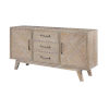 This item: Barrister Distressed Three-Drawer Two-Door Media Credenza