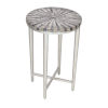 This item: Grey Bone Antique Silver Finish Accent Table