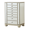 This item: Mirrored Two Door Seven Drawer Jewelry Armoire