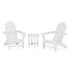 This item: Vineyard White Adirondack Set, 3-Piece