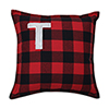 This item: Black and Red Buffalo Plaid 17-Inch Throw Pillow- Letter R