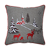 This item: Gray Christmas Scene 17-Inch Throw Pillow