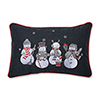 This item: Gray and White Christmas Frosty and Friends Lumbar Pillow