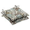 This item: Blue and Brown Outdoor Tamara Paisley Quartz Wrought Iron Seat Cushion, Set of 2