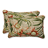 This item: Tan Outdoor Botanical Glow Tiger Stripe Rectangular Throw Pillow, Set of 2