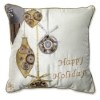 This item: White and Gold 16.5-Inch Holiday Ornaments Throw Pillow
