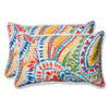 This item: Ummi Multicolor Rectangular Outdoor Throw Pillow, Set of 2